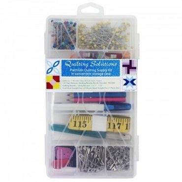 Quilting Solutions Premium Supply Kit w Storage Case